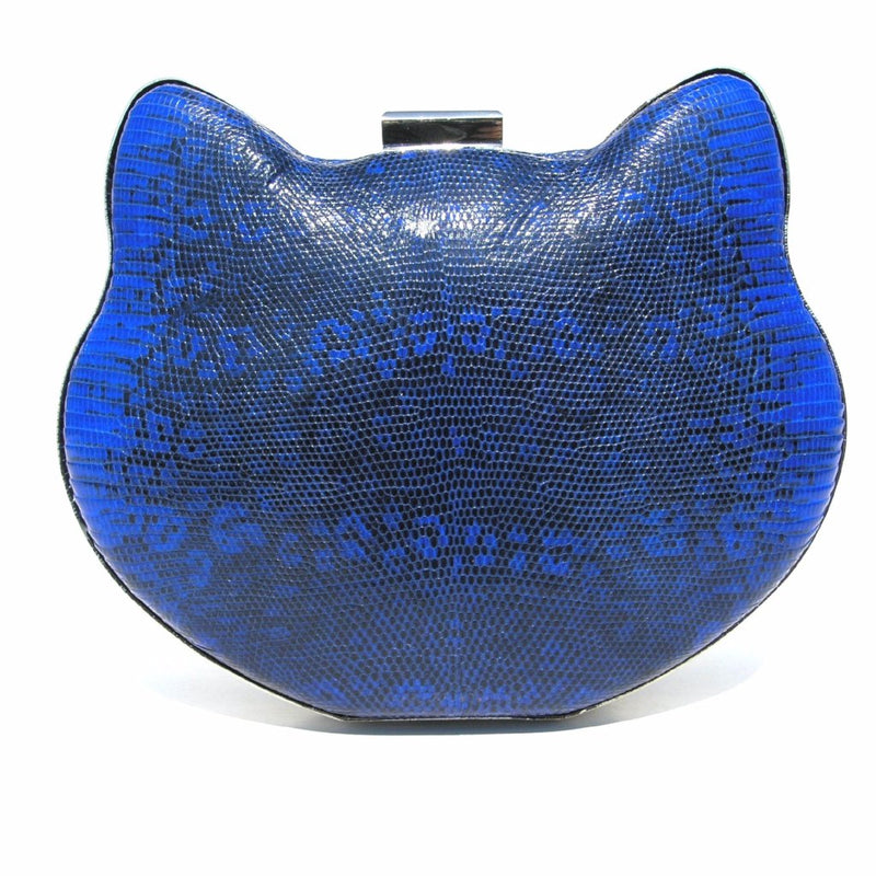 Exotic Skin Cat Minaudiere Clutch - Clutches