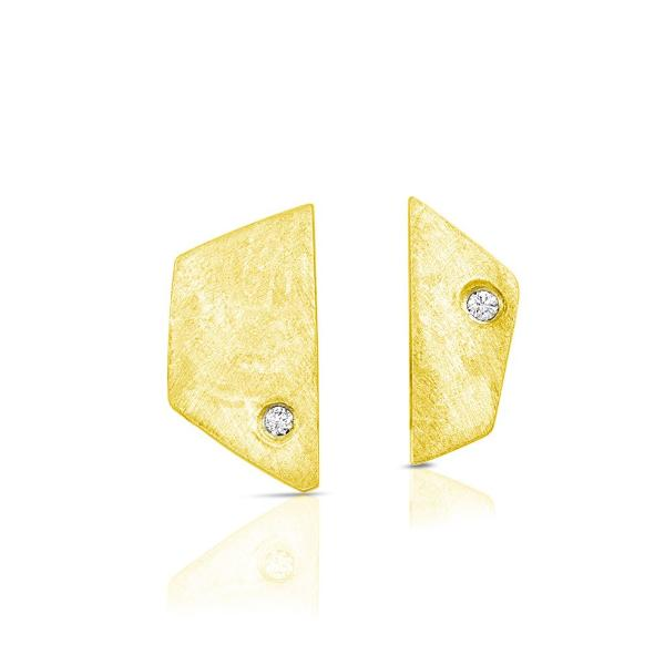 14K Gold and Diamond Paloma Earrings - Earrings
