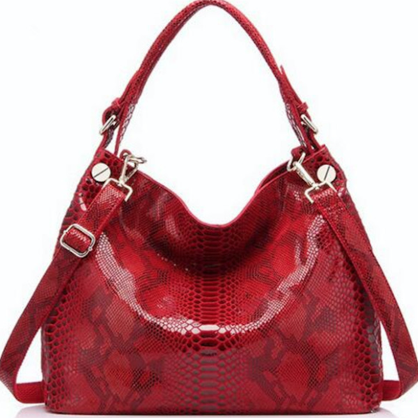 Embossed Leather Helen Hobo - Shoulder Bags