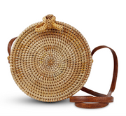 Handwoven Calypso Straw Bag - Shoulder Bags