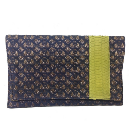 Deco Blue Clutch Bag