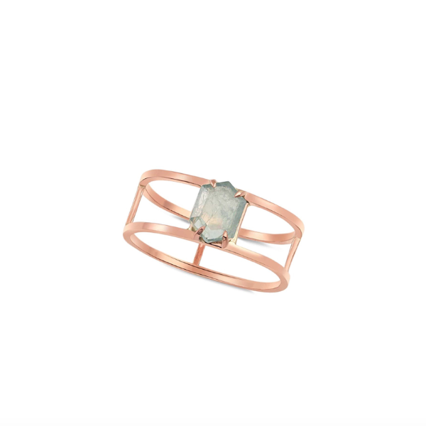 14K Rose Gold and Sapphire Tove Ring - Fine Jewelry