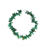 African Jade Spike Necklace - Necklaces