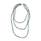 Agate Green and White Layer Necklace - Necklaces