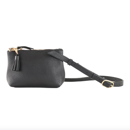 Mini Pamela Leather Crossbody Hobo