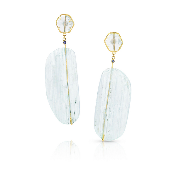 Aquamarine Mesi Earrings - Earrings