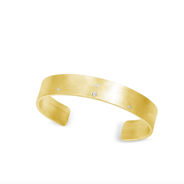 14K Gold and Diamond Tor Cuff - Fine Jewelry