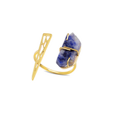 14K Gold and Sapphire Garai Ring - Rings