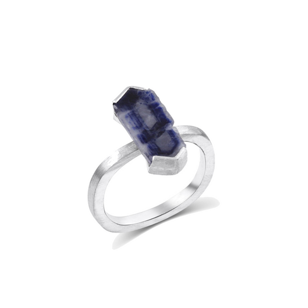 14k Gold and Sapphire Tel Ring - Rings