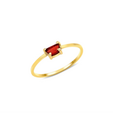14K Gold and Pyrope Titania Ring - Rings