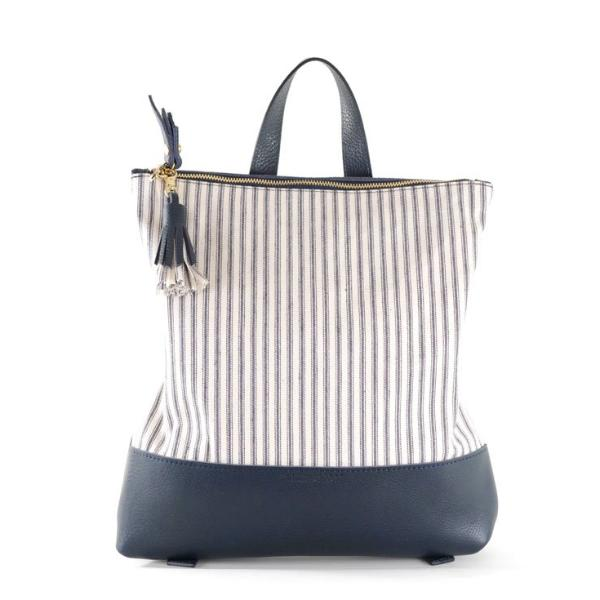 PRE-ORDER Hill Backpack- Striped Navy