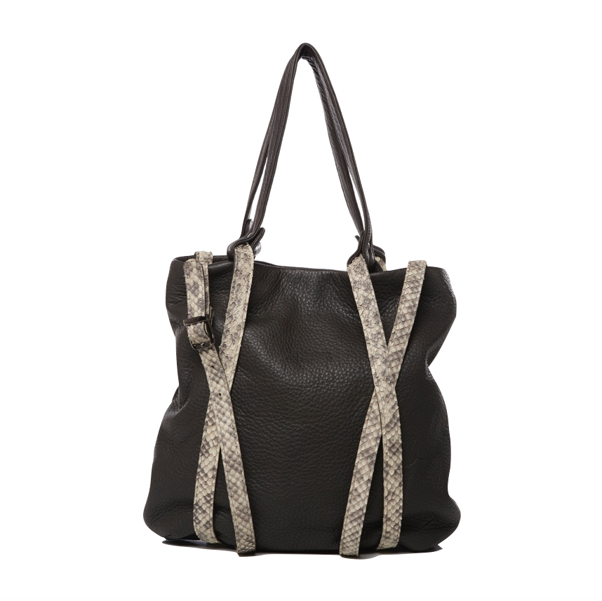 Leather Tyche Tote - Totes
