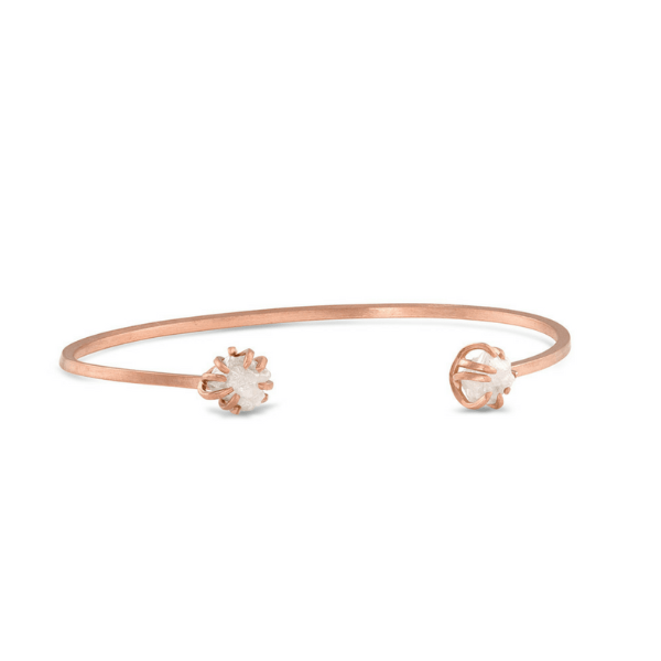 14K Gold and Diamonds Ima Bangle - Fine Jewelry