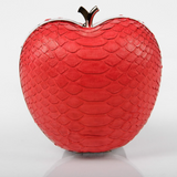 Red Apple Exotic Skin Minaudiere Clutch - Clutches