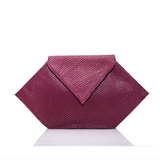 Leather Nyx Clutch - Clutches