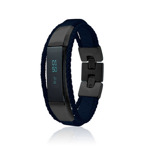Fitbit Alta Bracelet Aurel - Leather and Stainless Steel