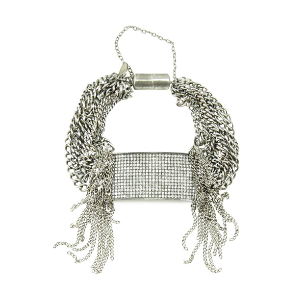 Fringed Diamond ID, Large Bracelet - Fine Jewelry