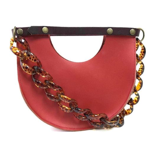 Mallory Top Handle in Saffron Red - Clutches