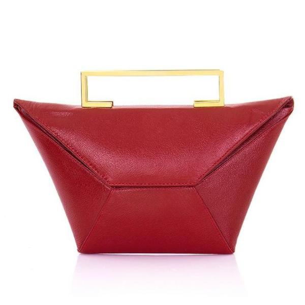 Meso Clutch Red Leather - Clutches