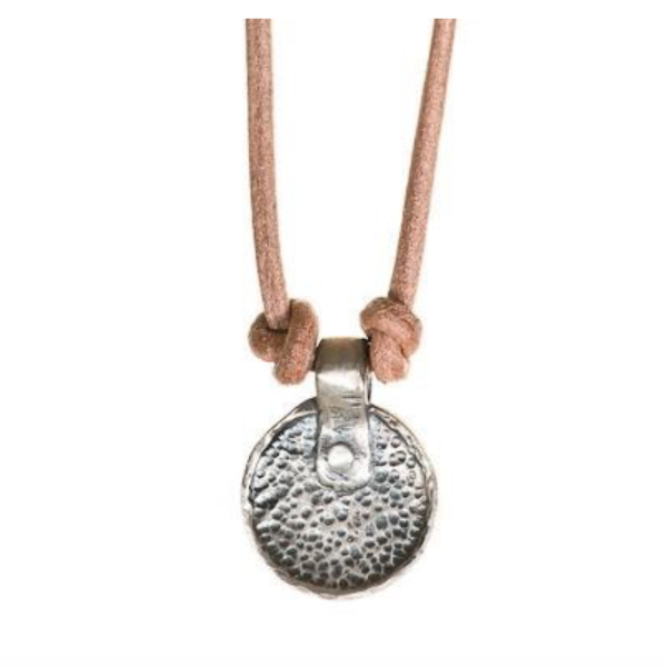 Sterling Silver Petite Hammered Disc
