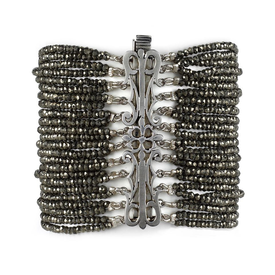 Edgy Unique Pyrite Bracelet - Fine Jewelry