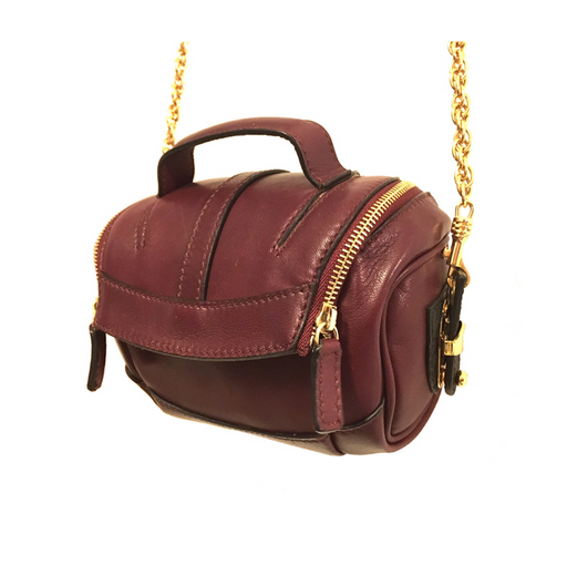 Leather Mini Camera Bag -