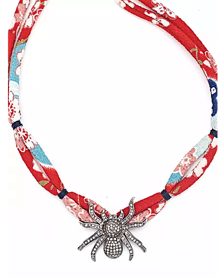 Diamond Spider Silk Necklace - Fine Jewelry