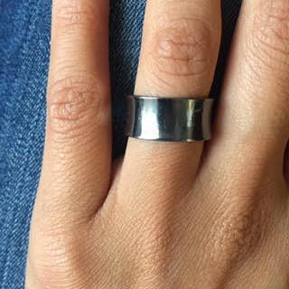 Silver Convex Ring - Rings