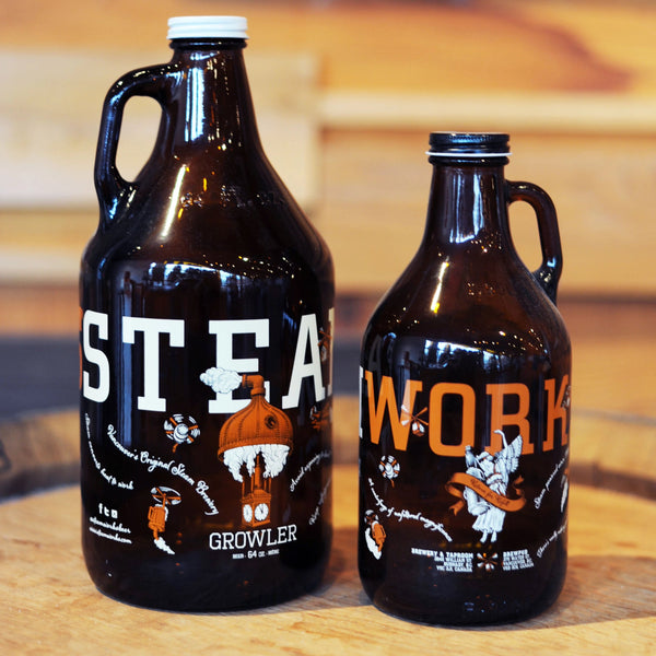 Steamworks Glass Growler