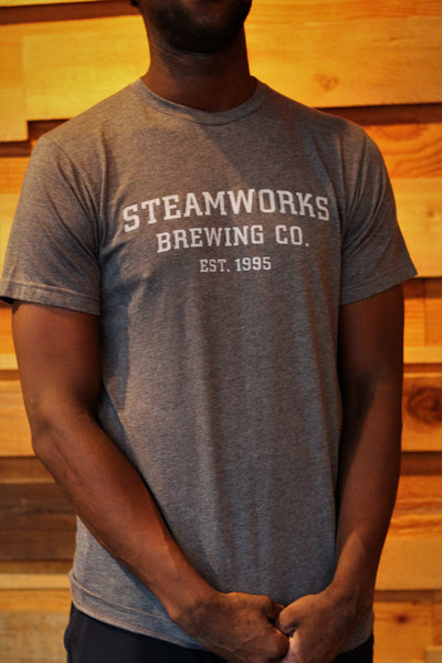 Navy Grey Stacked Logo T-Shirt
