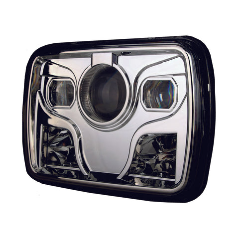 Performance LED Sealed Beam 5x7 Chrome