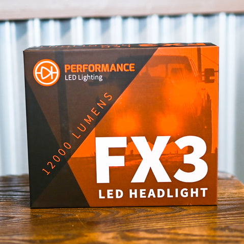FX3 Performance LED Headlight Box 12000 Lumens Replacement Bulbs