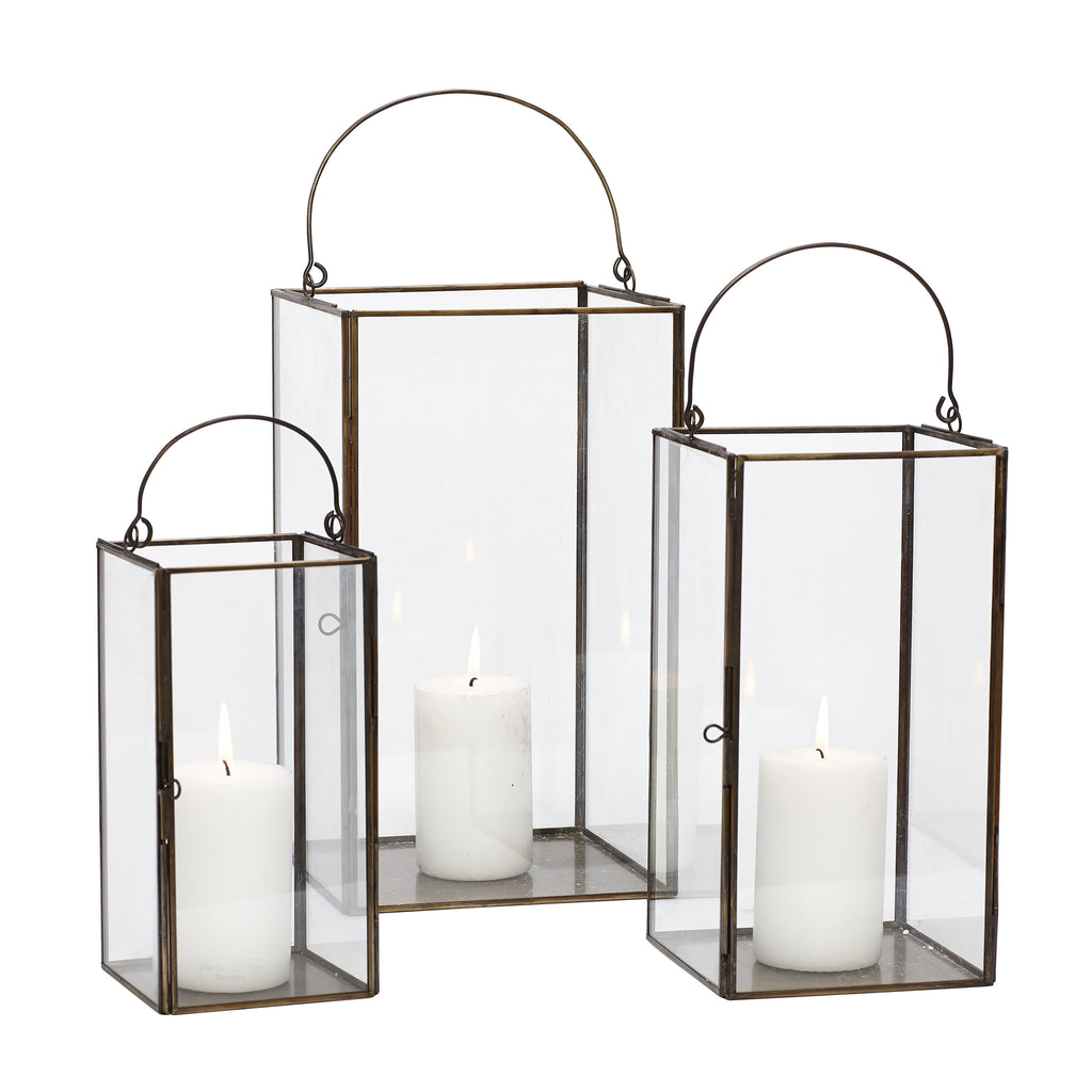Glass Lantern Large