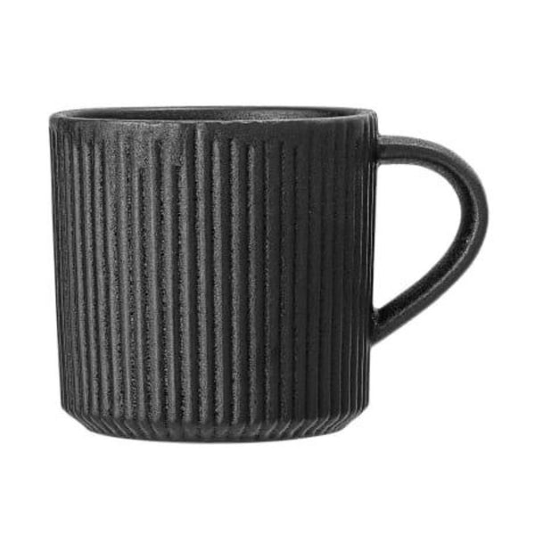 Black Ribbed Neri Mug
