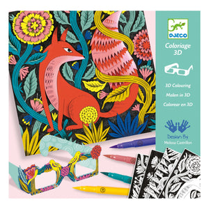 Fantasy Forest 3D Felt Brush Pen Colouring Set
