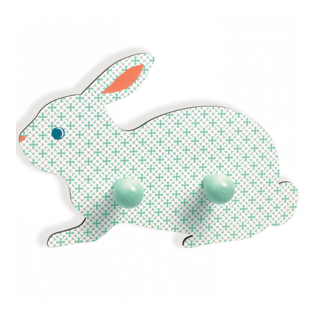 Wooden Rabbit 2-Peg Coat Rack