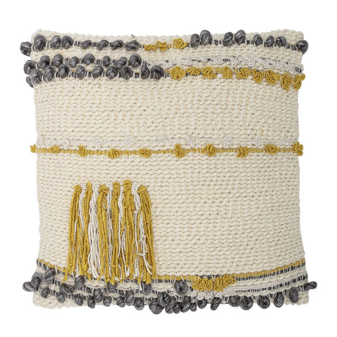 Woven Cushion with Tassels