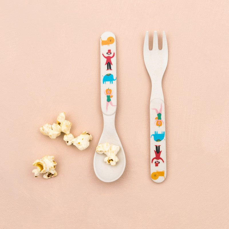 Bamboo Big Top Circus Spoon & Fork Set