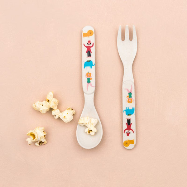 Big Top Circus Bamboo Spoon & Fork Set