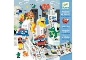Monster Invasion Cityscape Sticker Story
