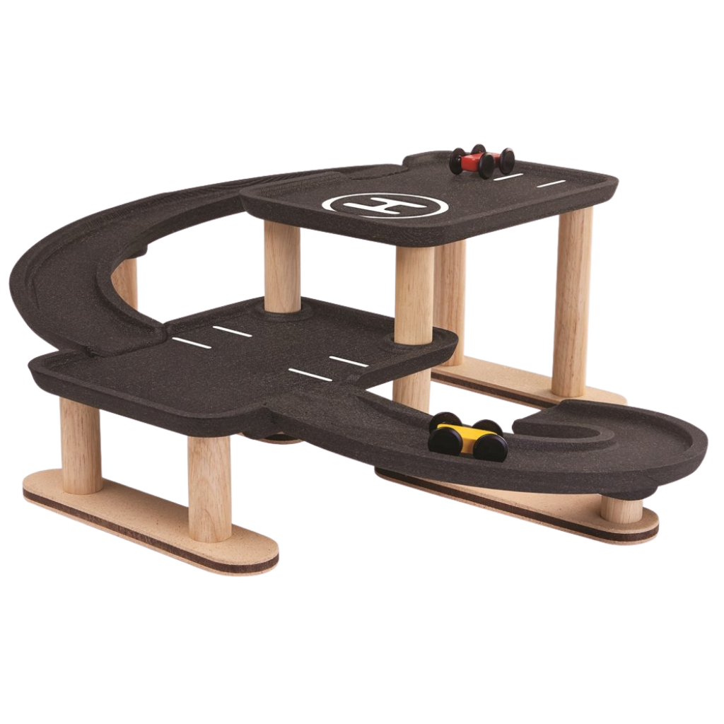 Wooden Race 'n' Play Parking Garage