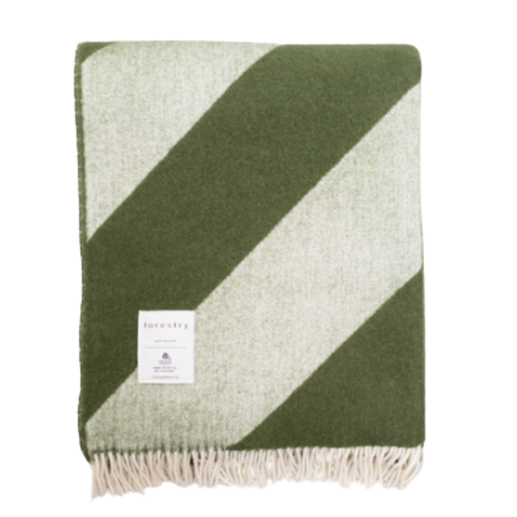Mina Forest Green Blanket