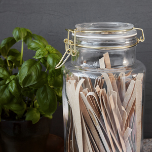 Large Glass Storage Jar with Hinged Lid