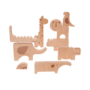 Safari Jungle Puzzle and Play Set