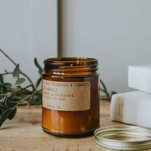 No.4 Teakwood and Tobacco Mini Soy Candle