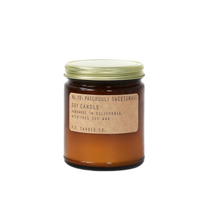No.19 Patchouli Sweetgrass Soy Candle
