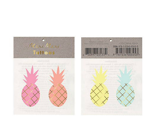 Pineapples Tattoos