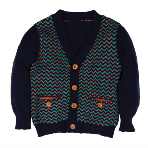 Kenneth: Herringbone Cardigan