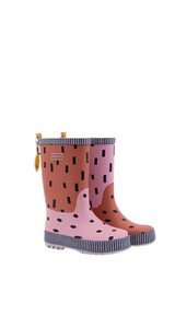 Rain Boots -  candy pink + faded orange + carrot orange