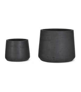 Stratton Tapered Plant Pots - Set of 2, Carbon colour